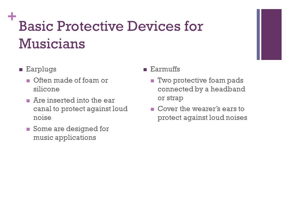 Basic Protective Devices for Musicians