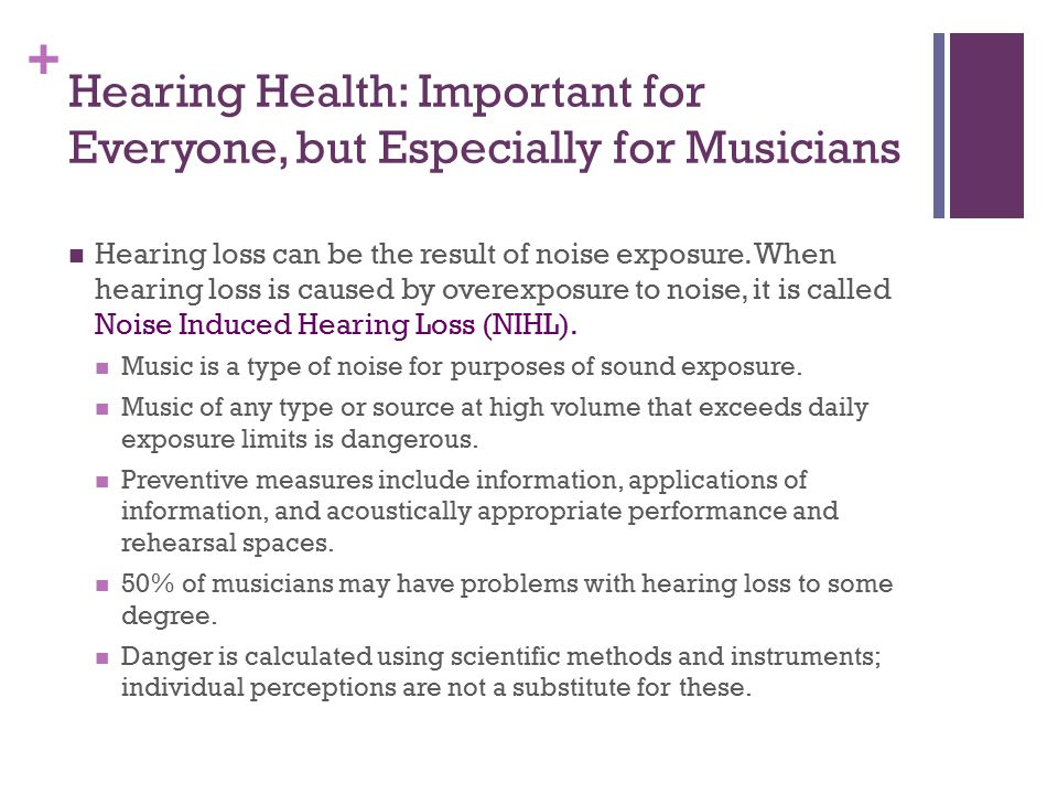 Hearing Health: Important for Everyone, but Especially for Musicians