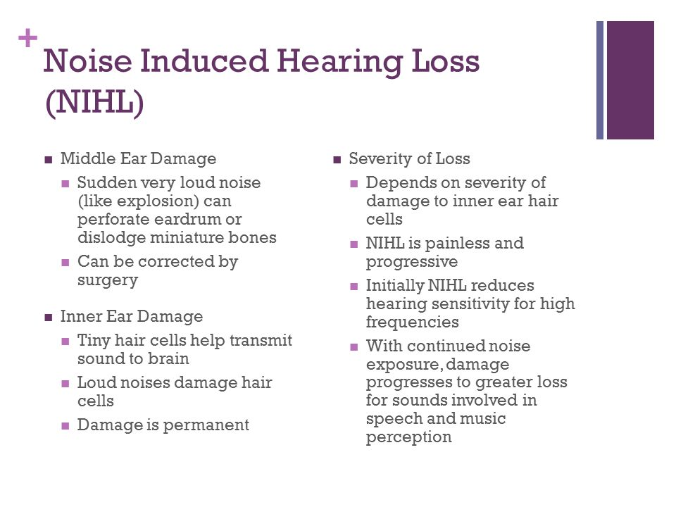 Noise Induced Hearing Loss (NIHL)