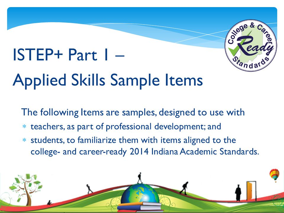 Applied Skills Sample Items