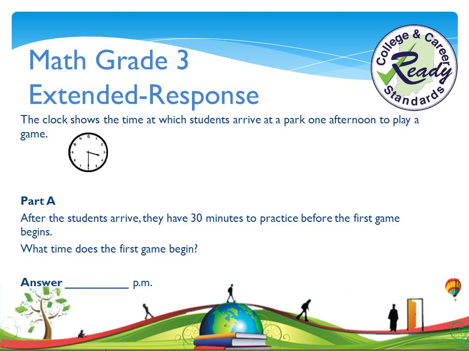 Math Grade 3 Extended-Response