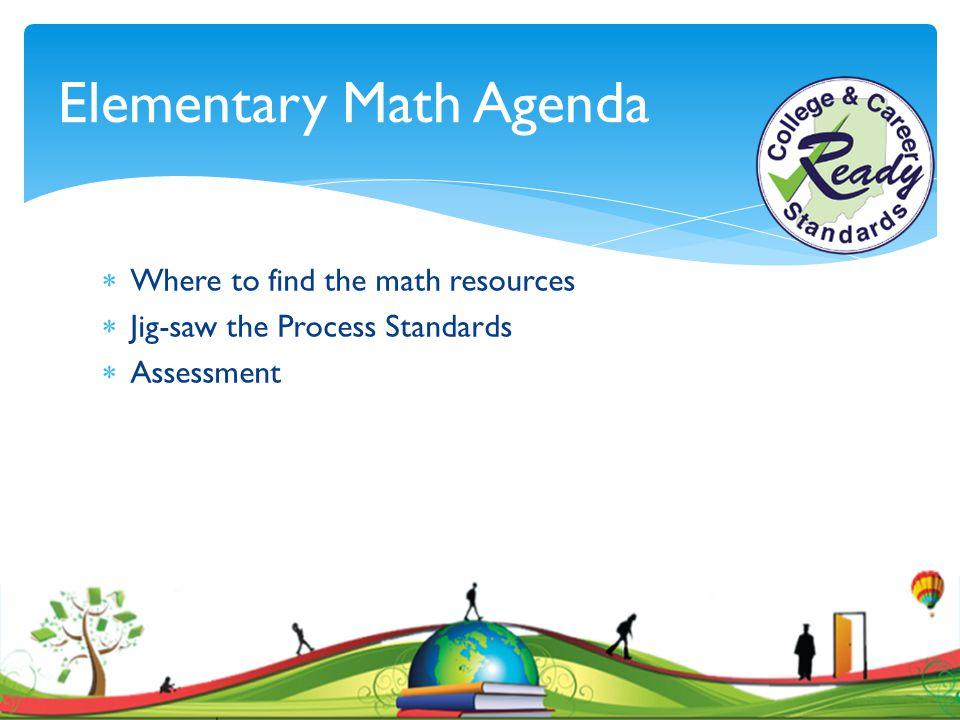 Elementary Math Agenda