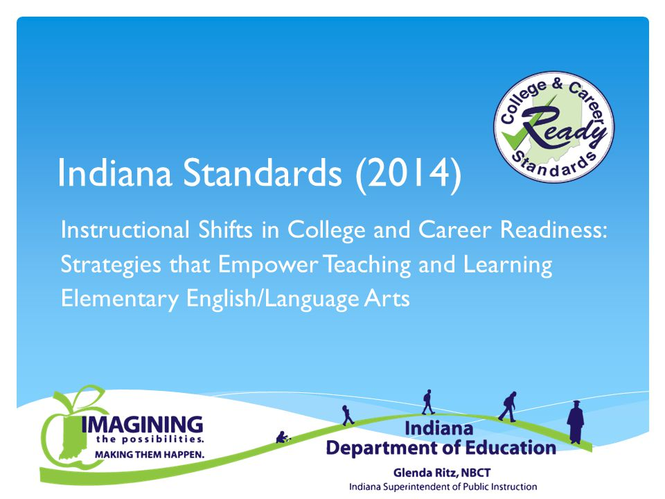 Indiana Standards (2014) Instructional Shifts in College and Career Readiness: Strategies that Empower Teaching and Learning.