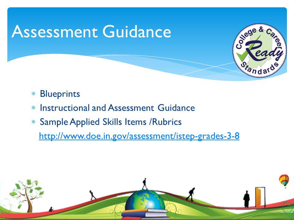 Assessment Guidance Blueprints Instructional and Assessment Guidance