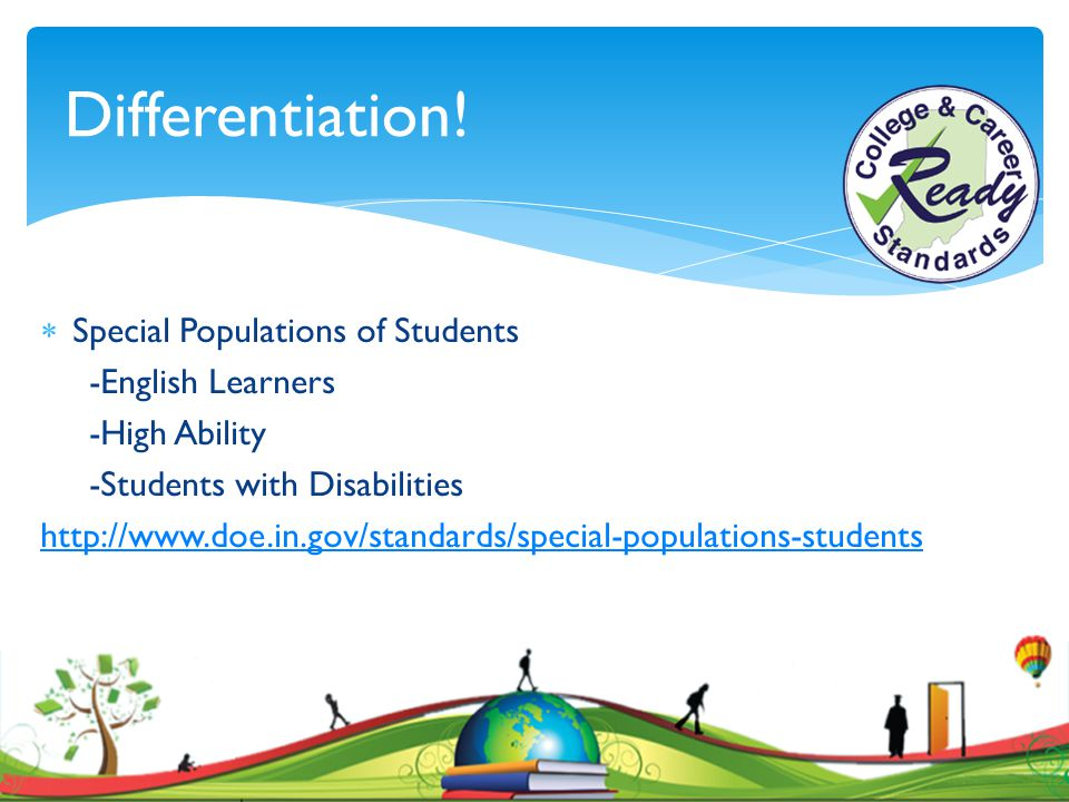 Differentiation! Special Populations of Students -English Learners