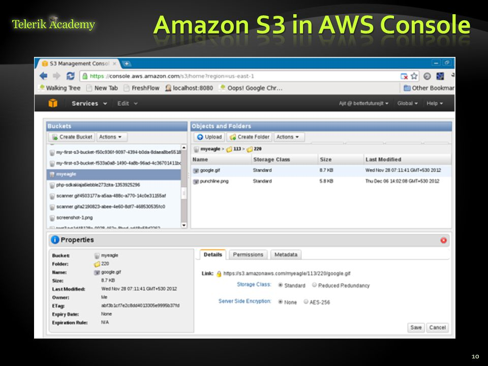 Amazon S3 in AWS Console