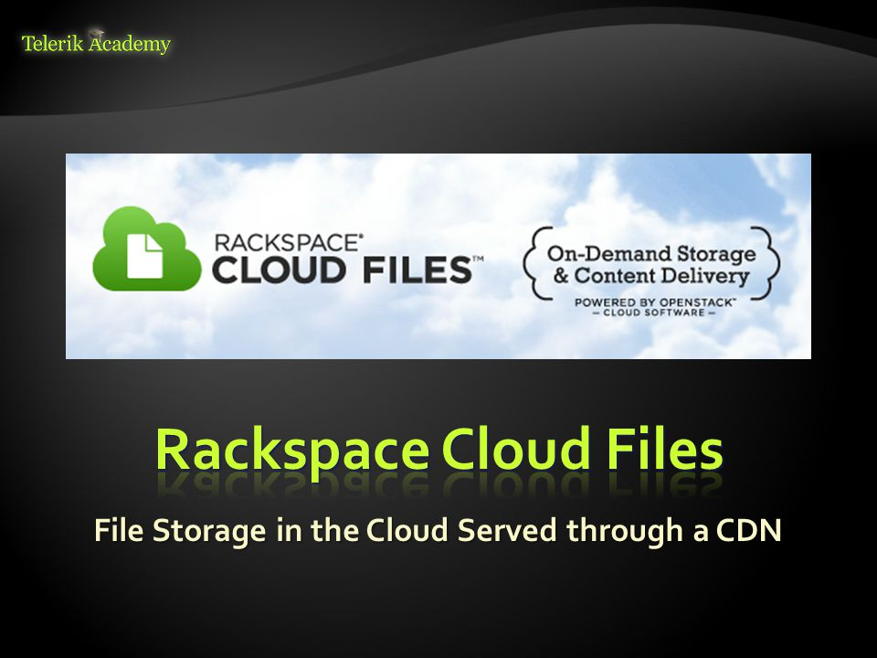 File Storage in the Cloud Served through a CDN