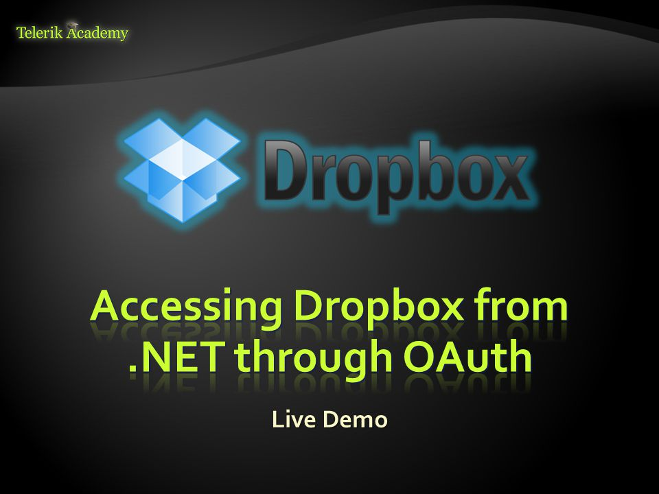 Accessing Dropbox from .NET through OAuth