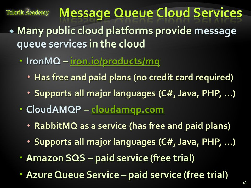 Message Queue Cloud Services