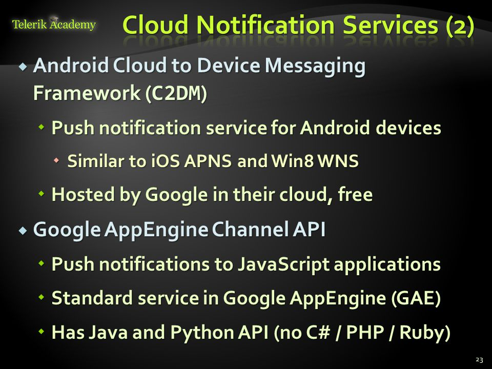 Cloud Notification Services (2)
