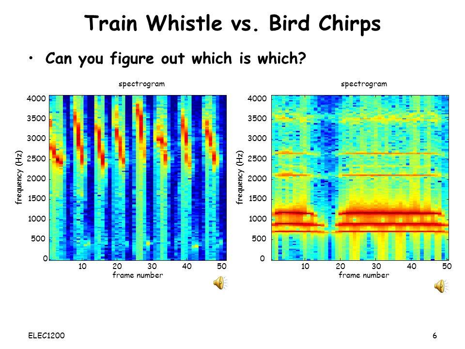 Train Whistle vs. Bird Chirps
