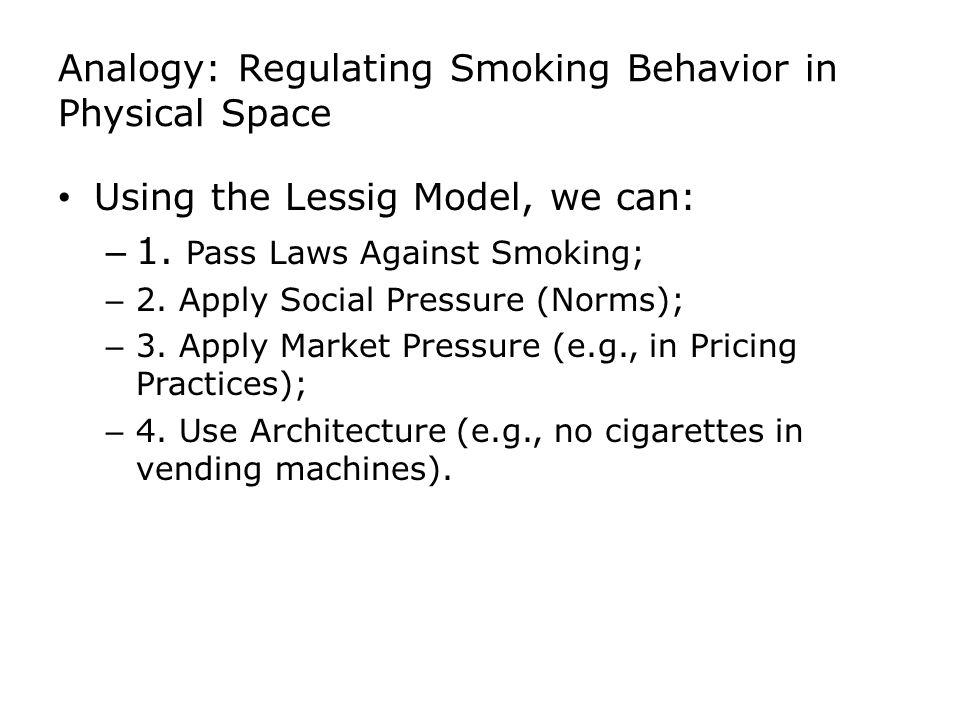 Analogy: Regulating Smoking Behavior in Physical Space