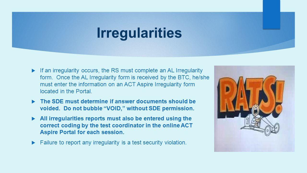 Irregularities