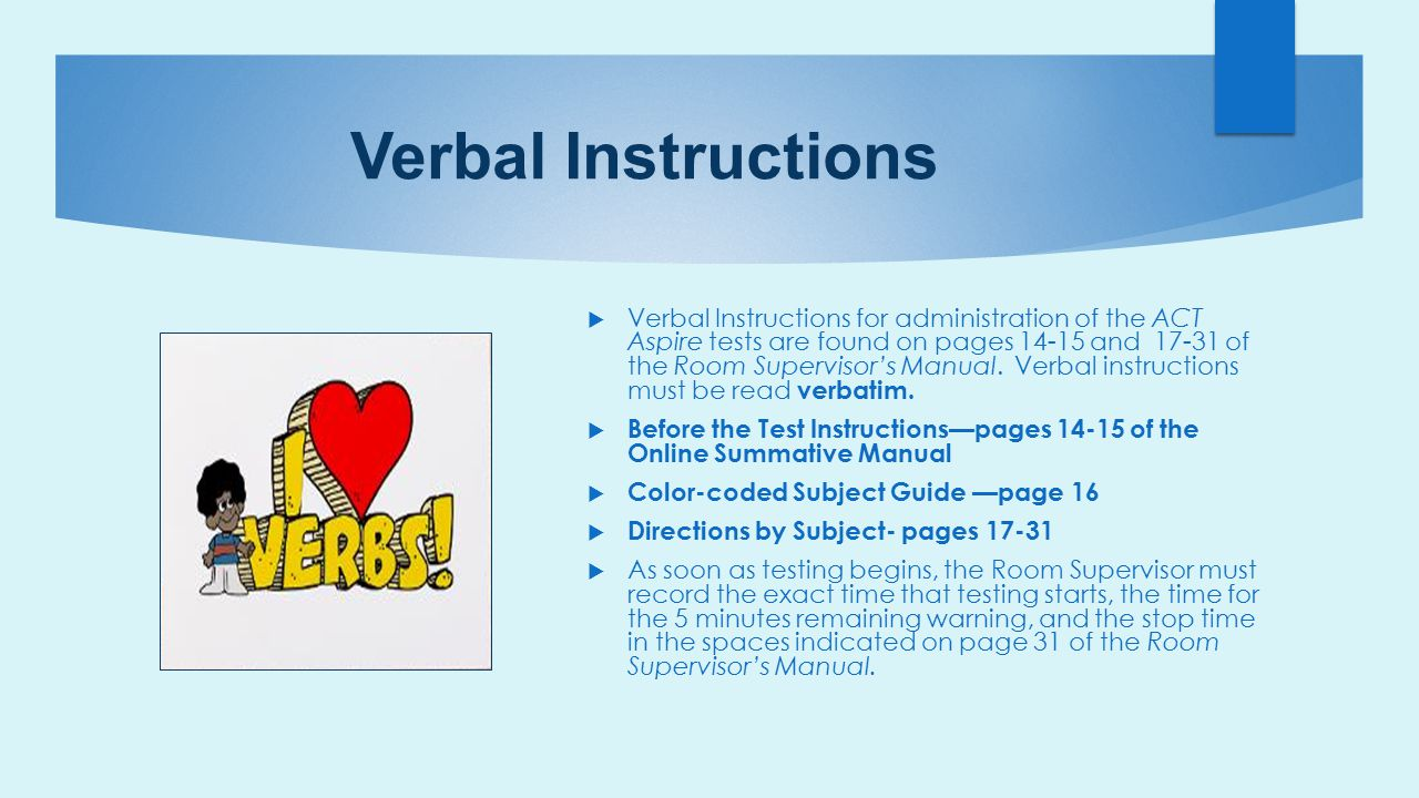 Verbal Instructions