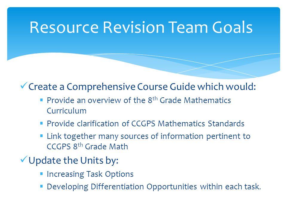 Resource Revision Team Goals