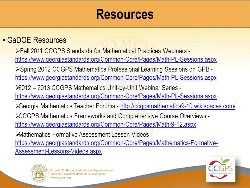 Resources GaDOE Resources