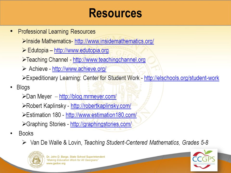 Resources Professional Learning Resources
