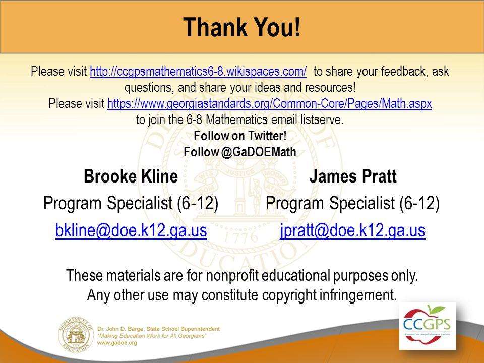 James Pratt Program Specialist (6-12) jpratt@doe.k12.ga.us
