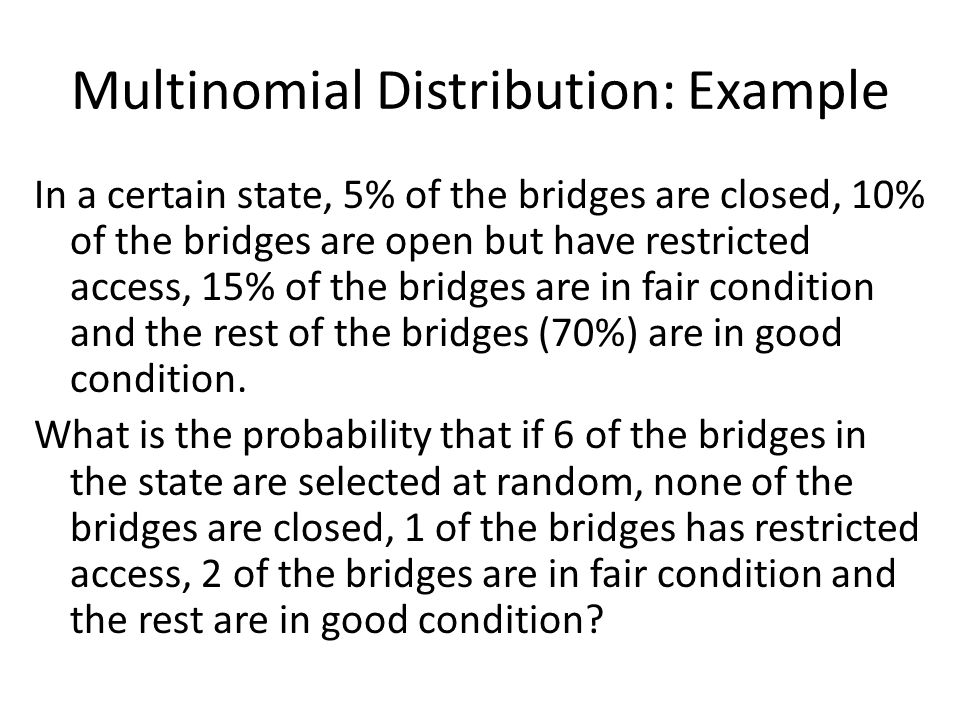 Multinomial Distribution: Example