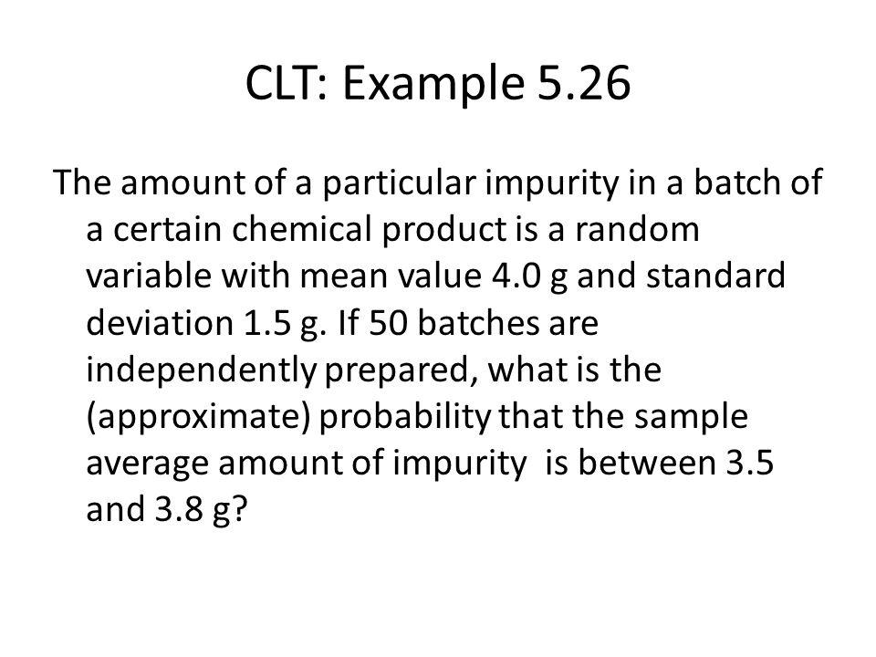 CLT: Example 5.26