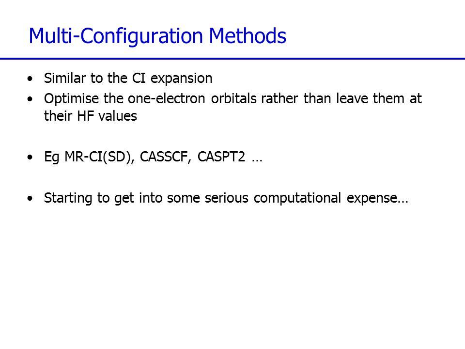 Multi-Configuration Methods