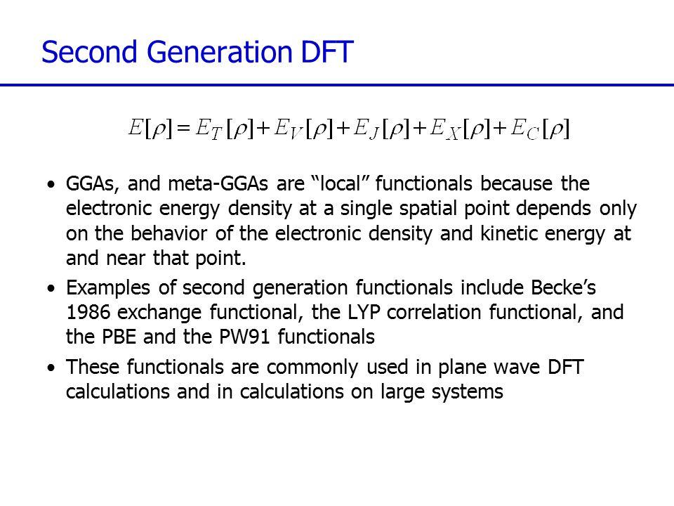Second Generation DFT