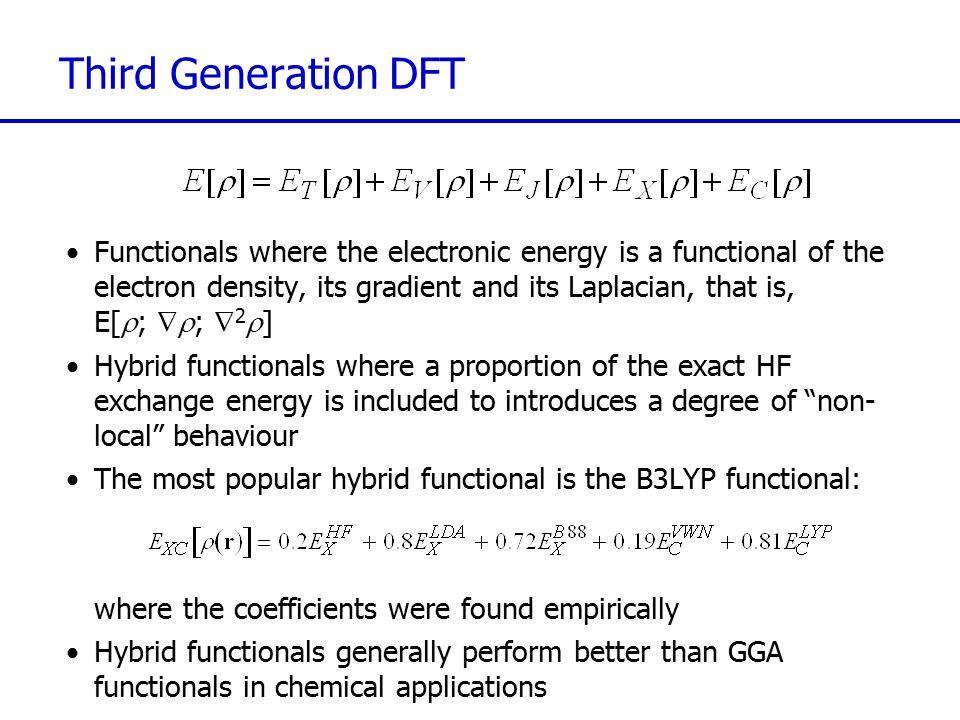 Third Generation DFT