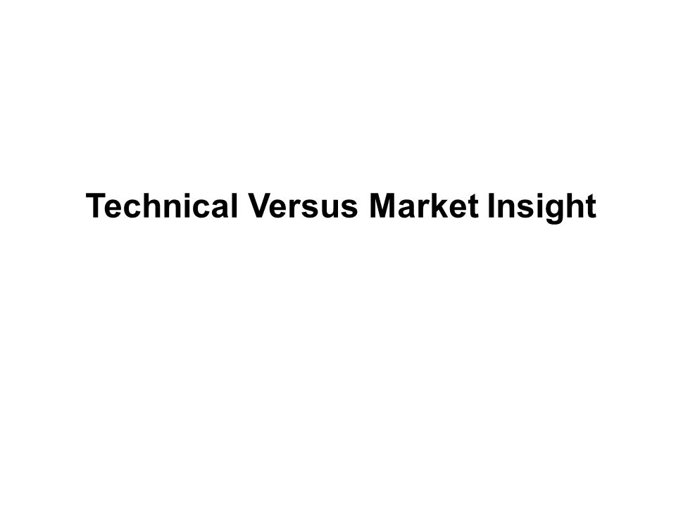 Technical Versus Market Insight
