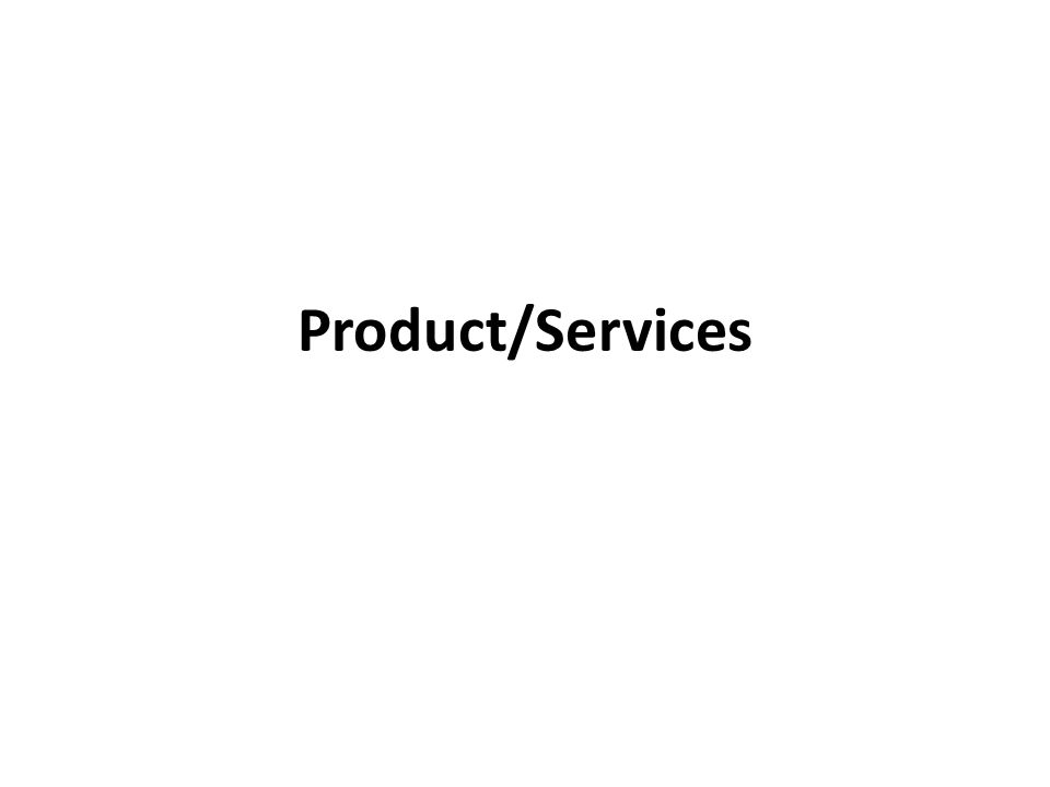 Product/Services