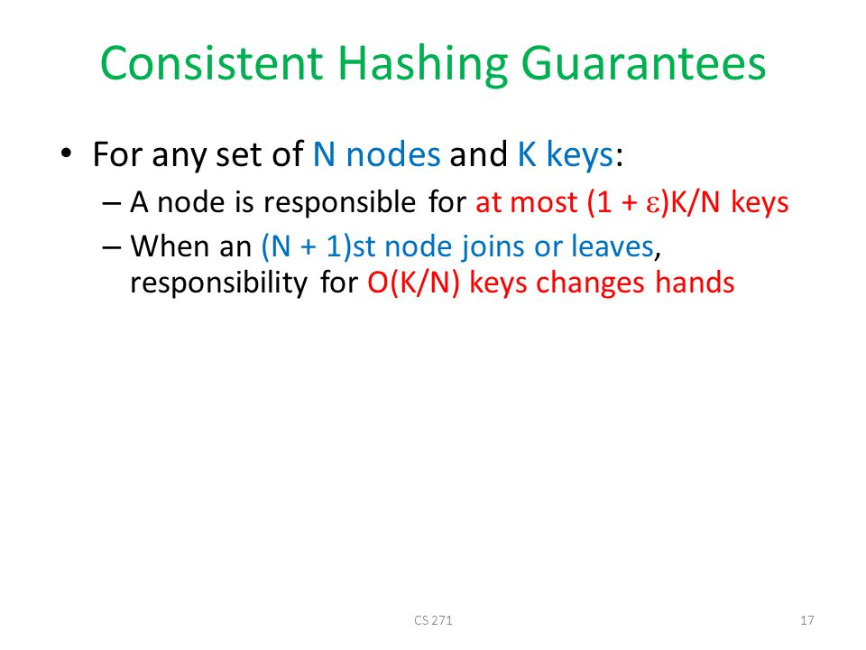 Consistent Hashing Guarantees