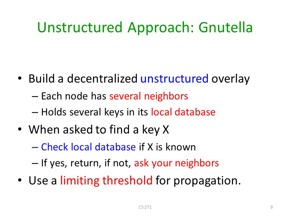 Unstructured Approach: Gnutella