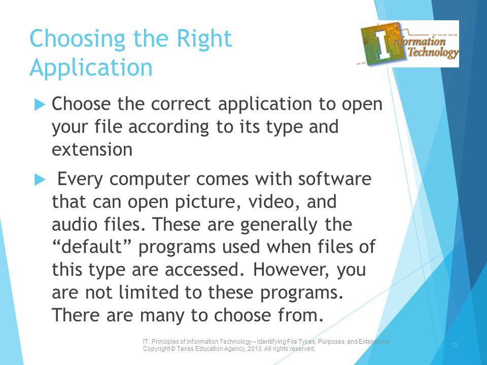 Choosing the Right Application