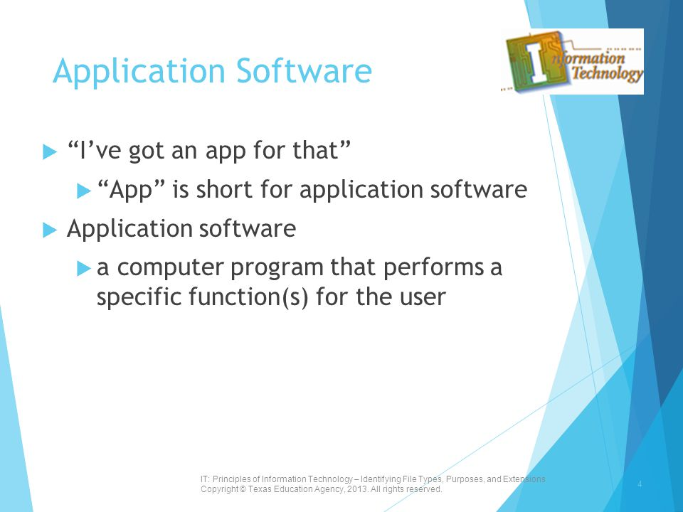 Application Software I've got an app for that
