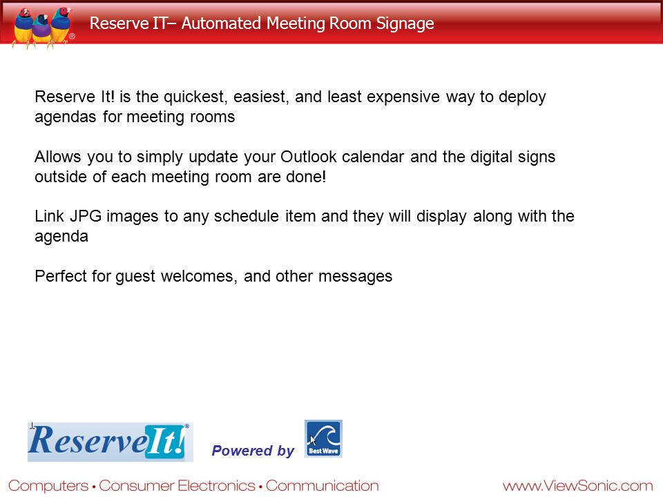 Reserve IT– Automated Meeting Room Signage