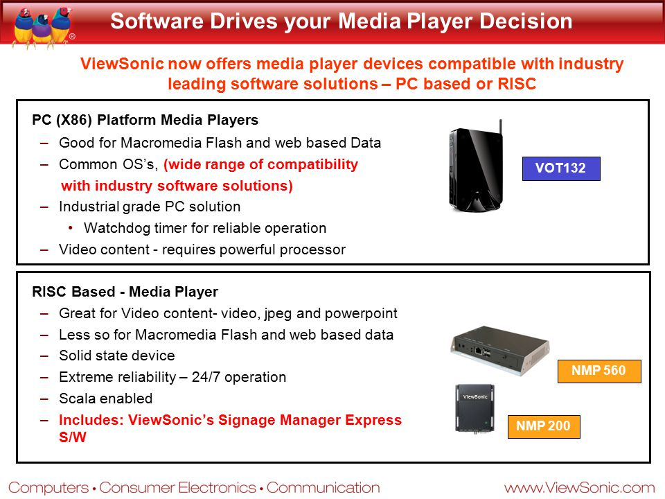 Software Drives your Media Player Decision