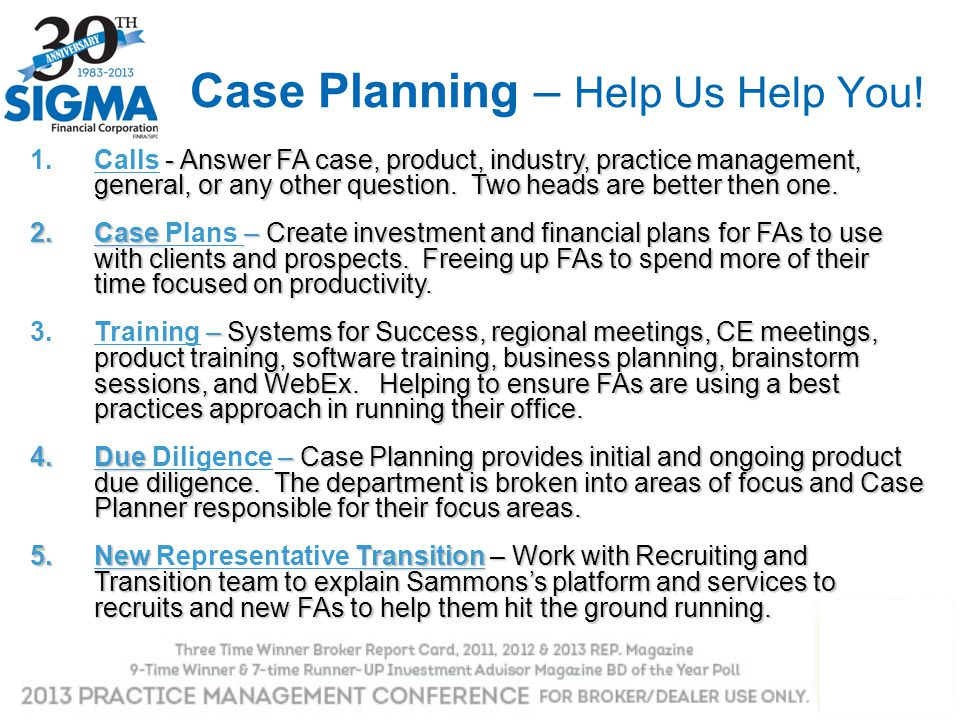 Case Planning – Help Us Help You!