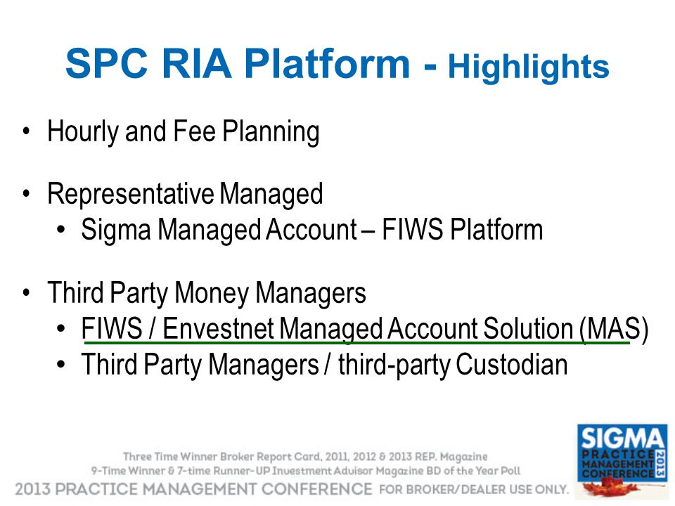SPC RIA Platform - Highlights