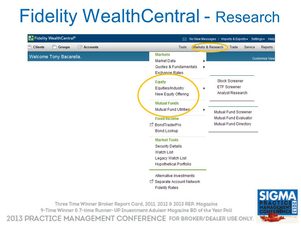 Fidelity WealthCentral - Research