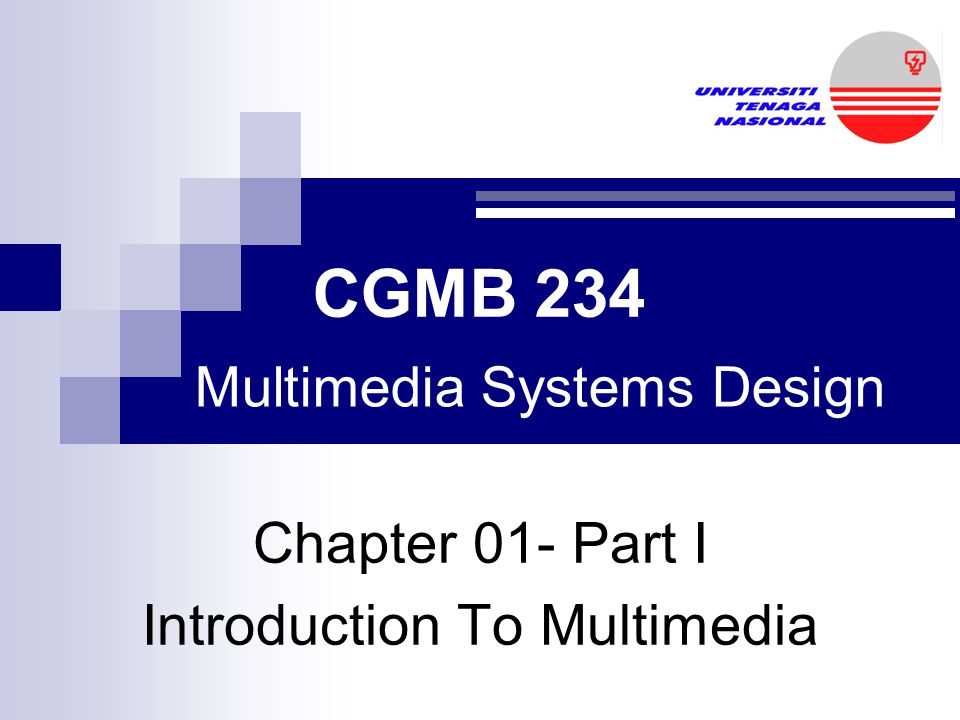 Chapter 01- Part I Introduction To Multimedia