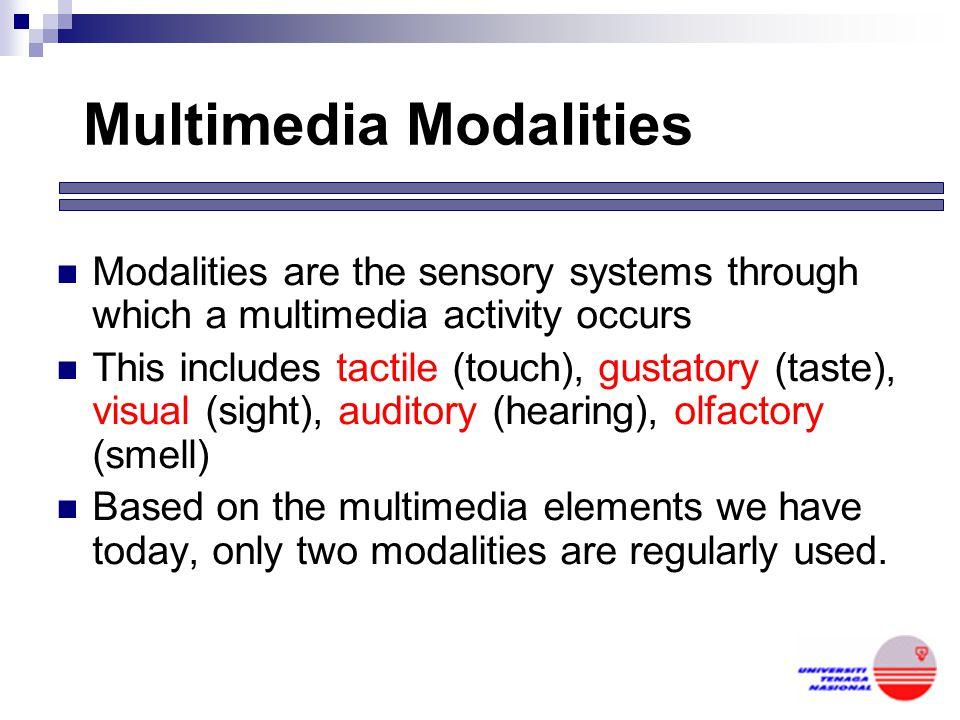 Multimedia Modalities