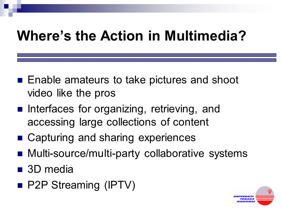 Where's the Action in Multimedia