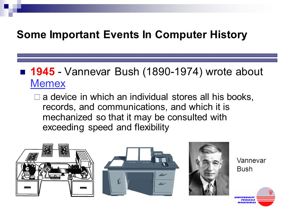 Some Important Events In Computer History
