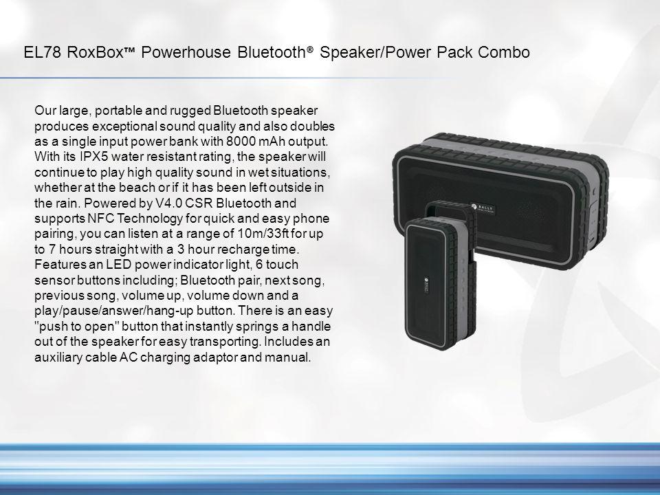 EL78 RoxBox™ Powerhouse Bluetooth® Speaker/Power Pack Combo