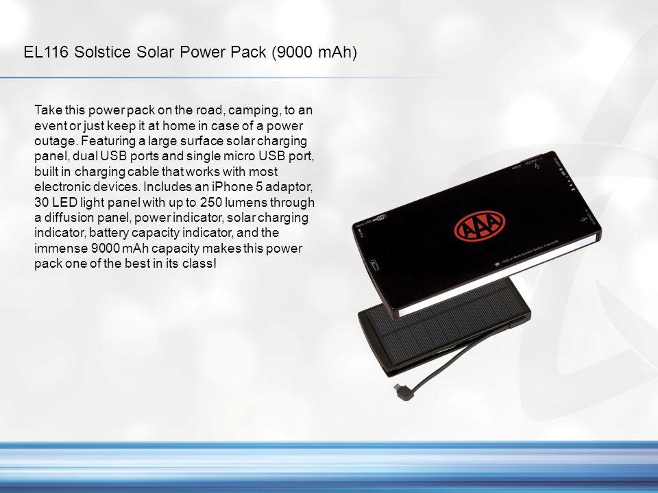 EL116 Solstice Solar Power Pack (9000 mAh)