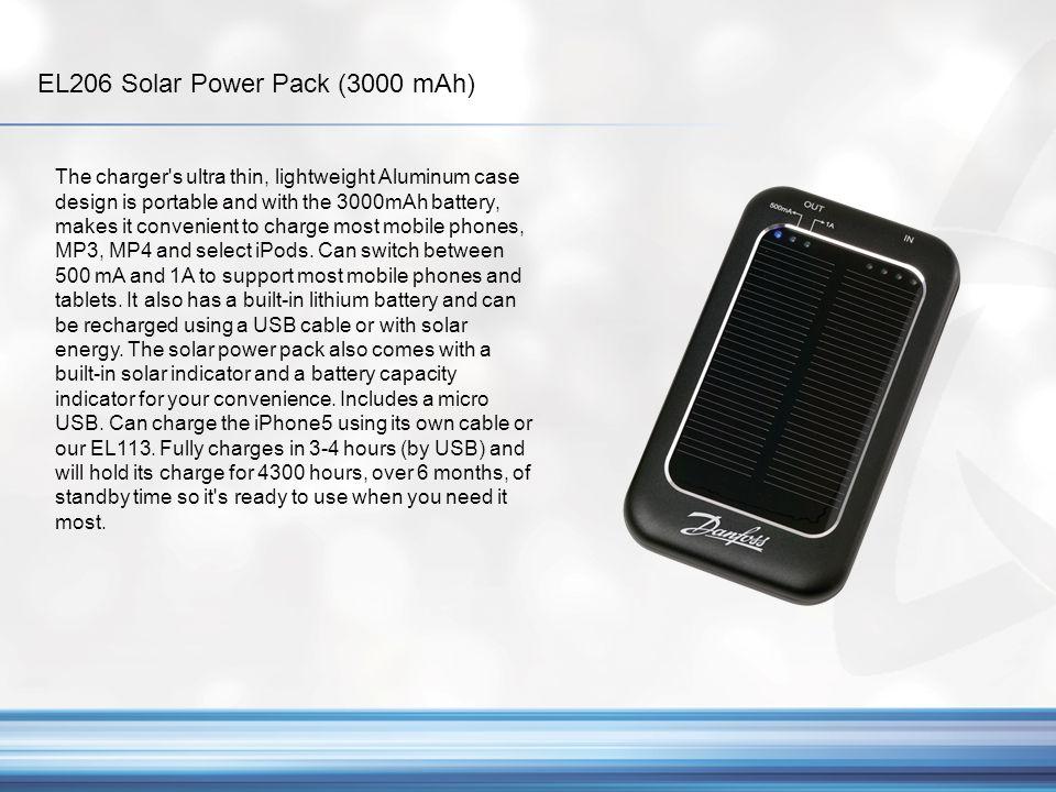 EL206 Solar Power Pack (3000 mAh)