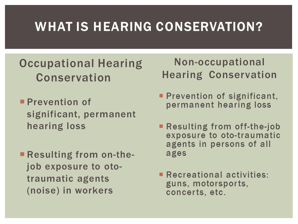 What is Hearing Conservation