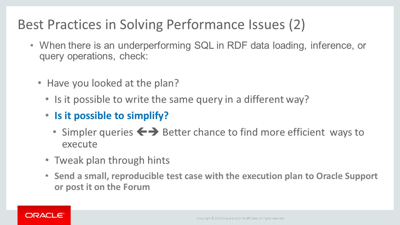 Best Practices in Solving Performance Issues (2)