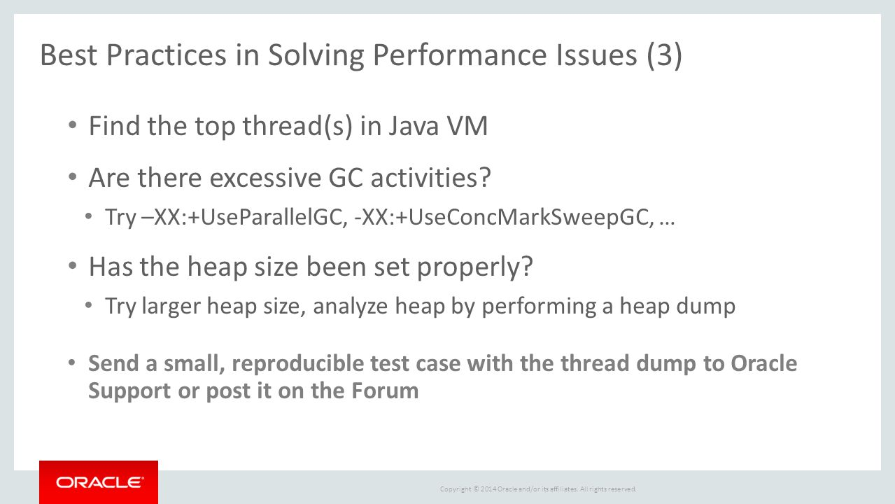 Best Practices in Solving Performance Issues (3)