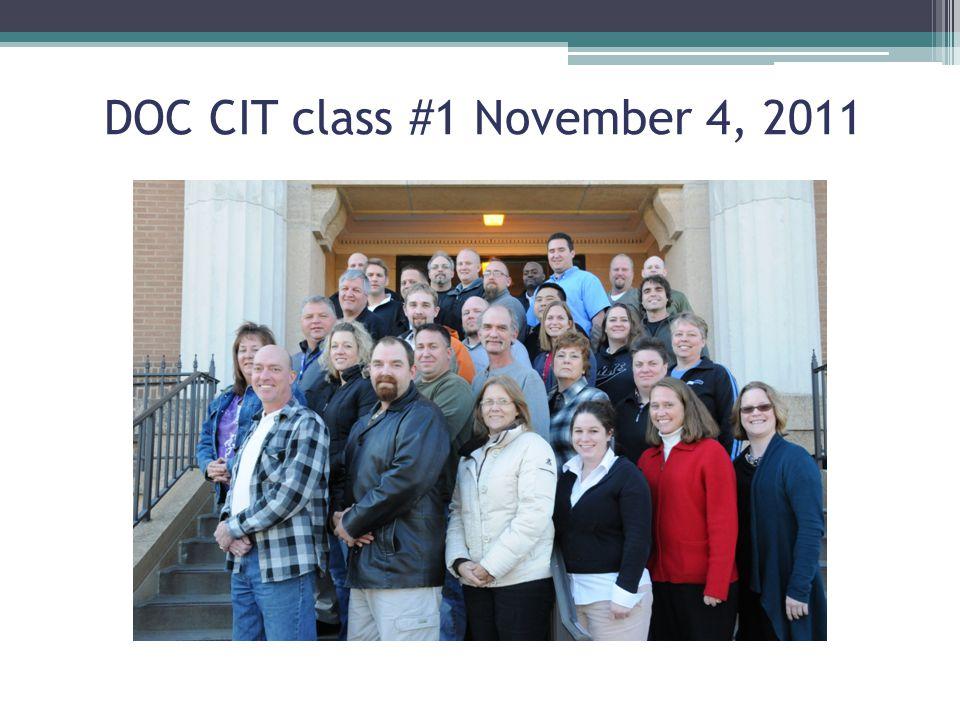 DOC CIT class #1 November 4, 2011