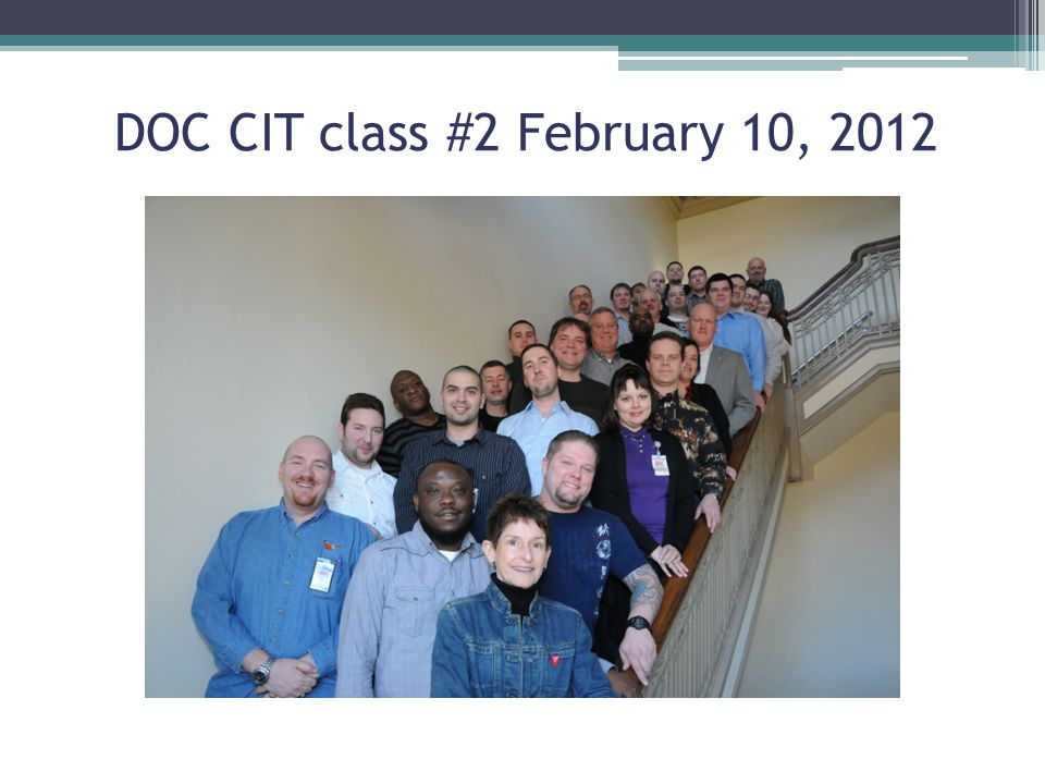 DOC CIT class #2 February 10, 2012